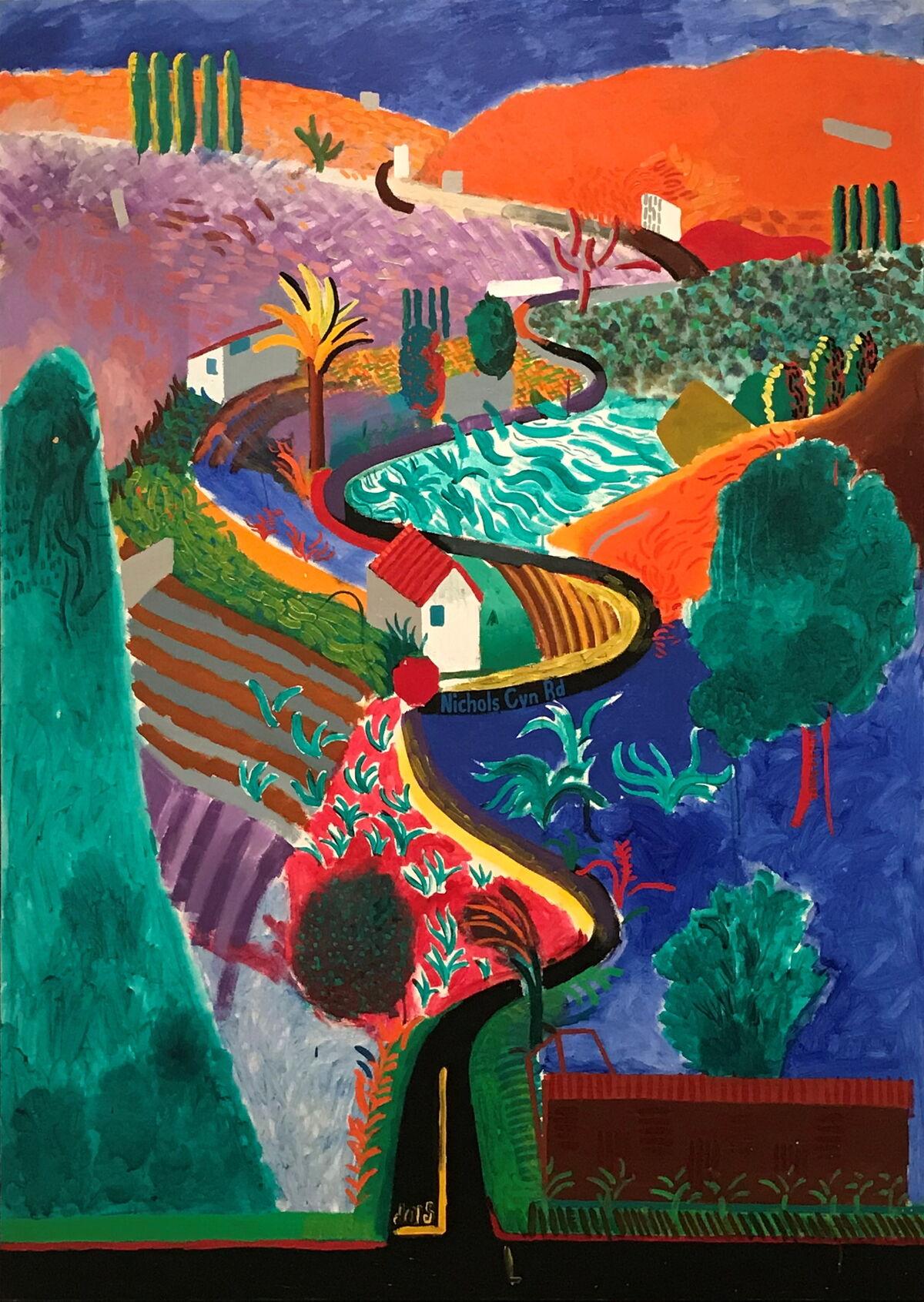 David Hockney's Nichols Canyon (1980). Courtesy Phillips.