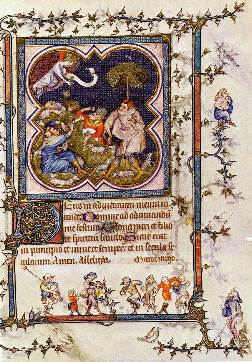 Jean Le Noir, Hours of Jeanne de Navarre, 1336-40. Photo via The Athenaeum.