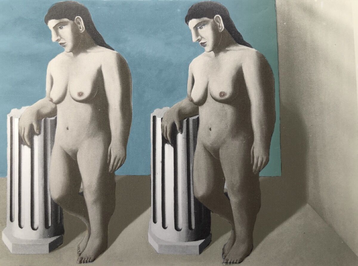 René Magritte, The Enchanted Pose, 1927. © Succession René Magritte. Courtesy of SABAM © ULiège.