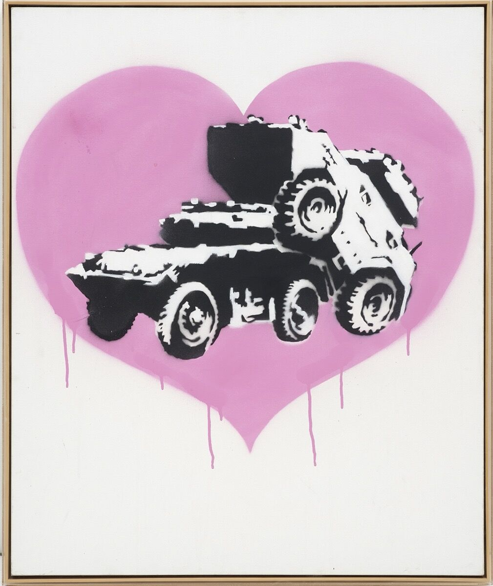 Banksy, Everytime I Make Love to You I Think of Someone Else, 2002. Courtesy of Phillips.