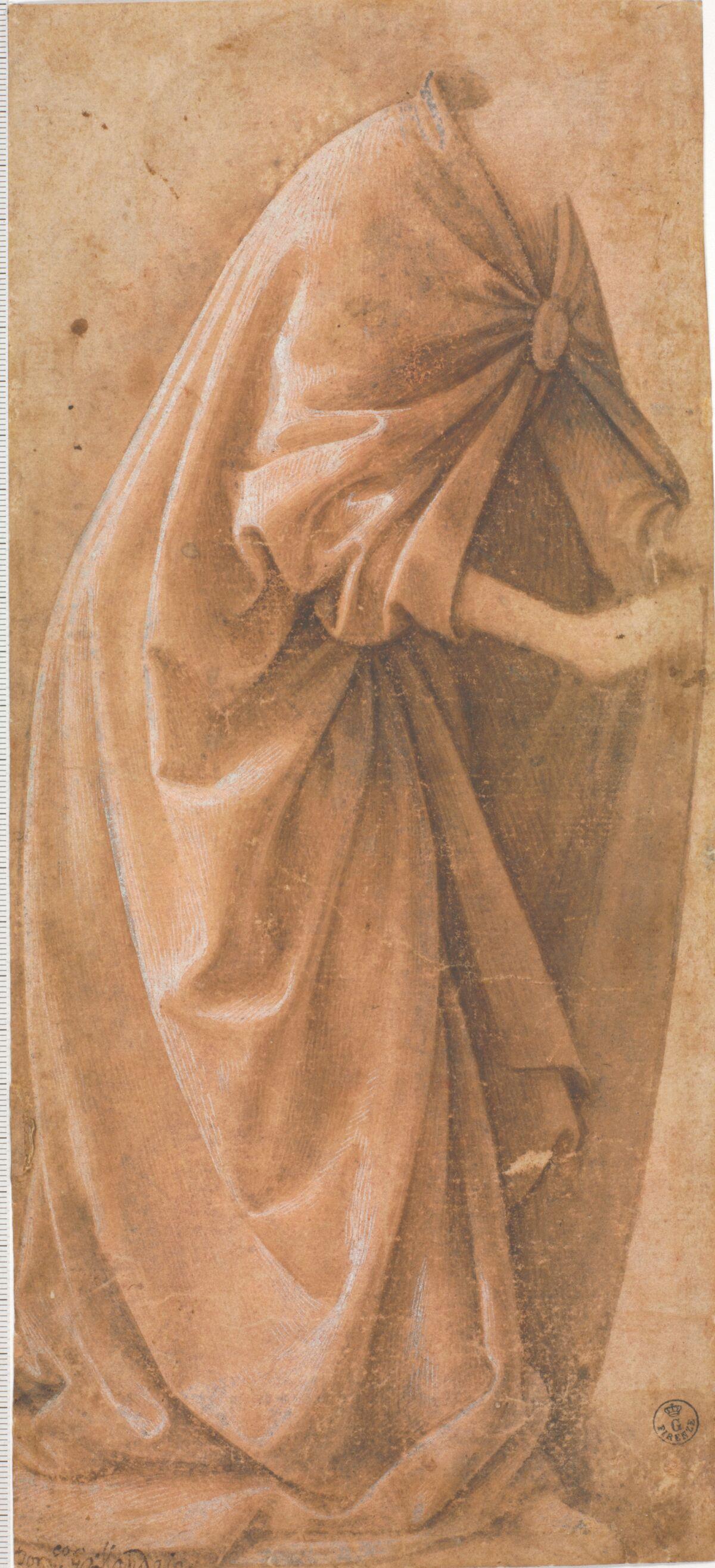 Domenico Ghirlandaio, Drapery study of a standing figure, 1485-90. Courtesy of the Metropolitan Museum of Art.