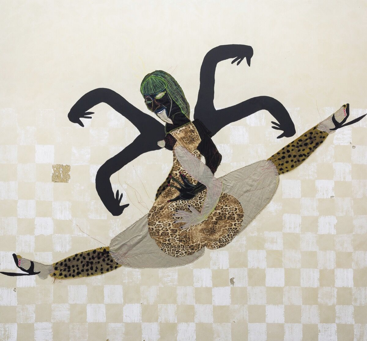 Tschabalala Self, Floor Dance, 2016. Courtesy of Christie's.