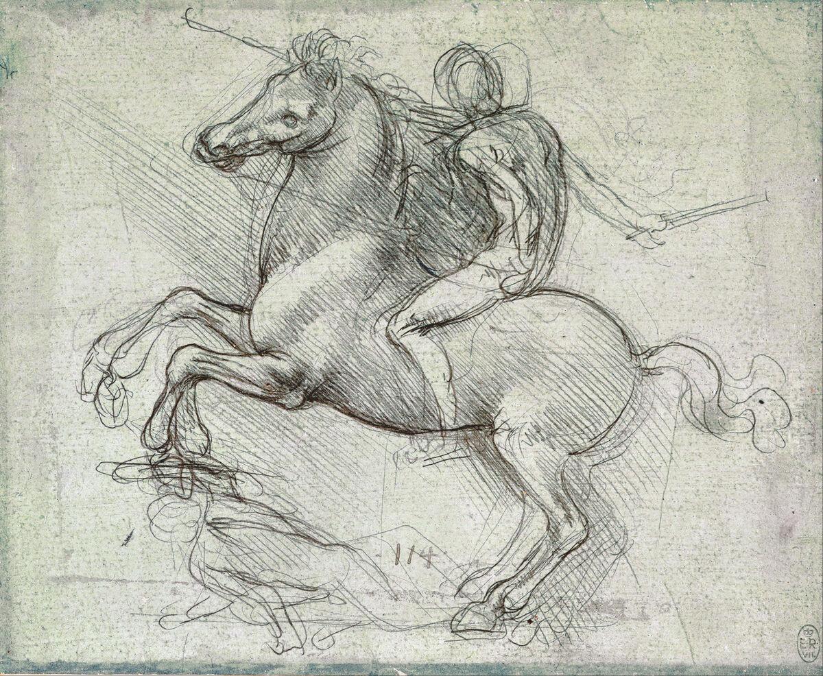 Leonardo da Vinci, Study for the Sforza Monument,c.1488-89. Photo by Plum leaves, via Flickr.