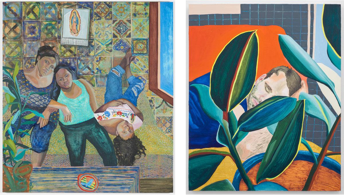 Left: Aliza Nisenbaum, Las Talaveritas, 2015; Right: Aliza Nisenbaum, The Nap, 2015. Images courtesy of the artist and Mary Mary, Glasgow.