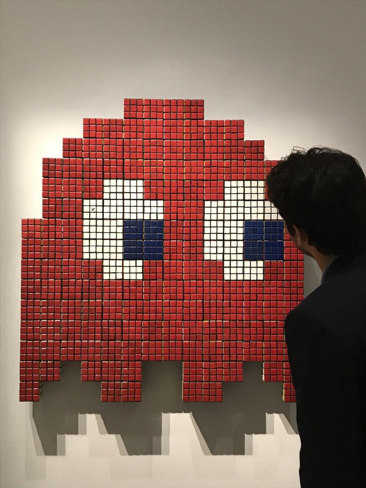 Invader, Red Rubik Phantom, 2007. Sold for £162,500 ($200,000). Courtesy Sotheby's.