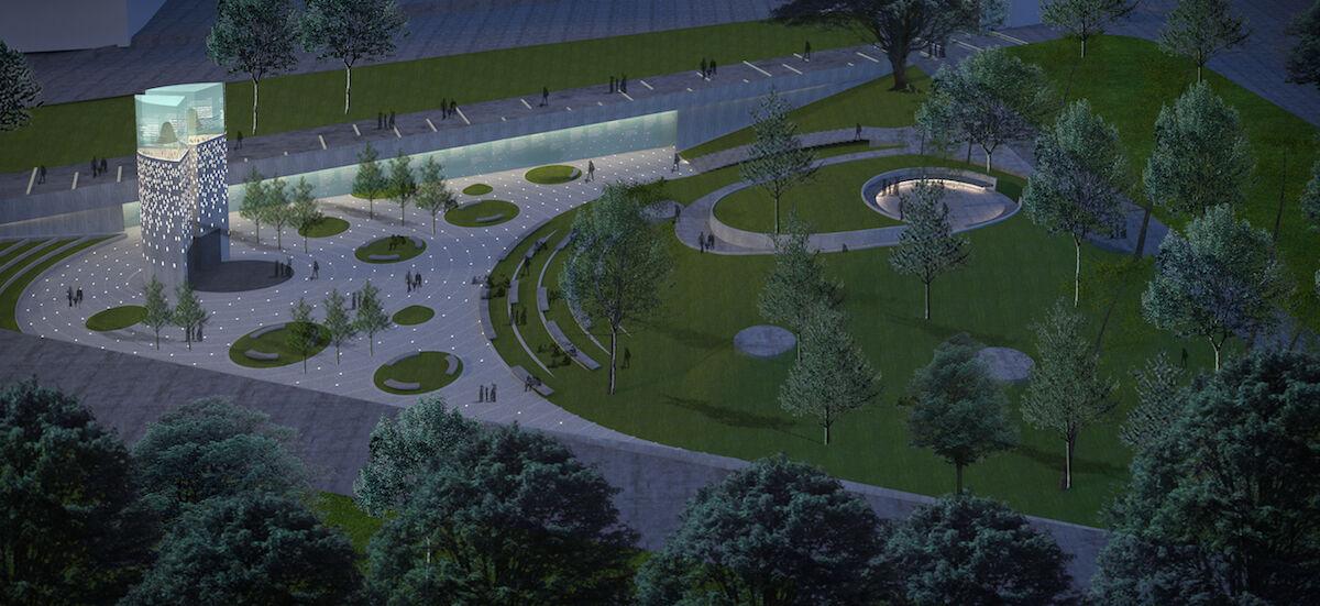 Krzysztof Wodiczko, Julian Bonder and Maryann Thompson Architects' proposed memorial. Courtesy MLK Boston.