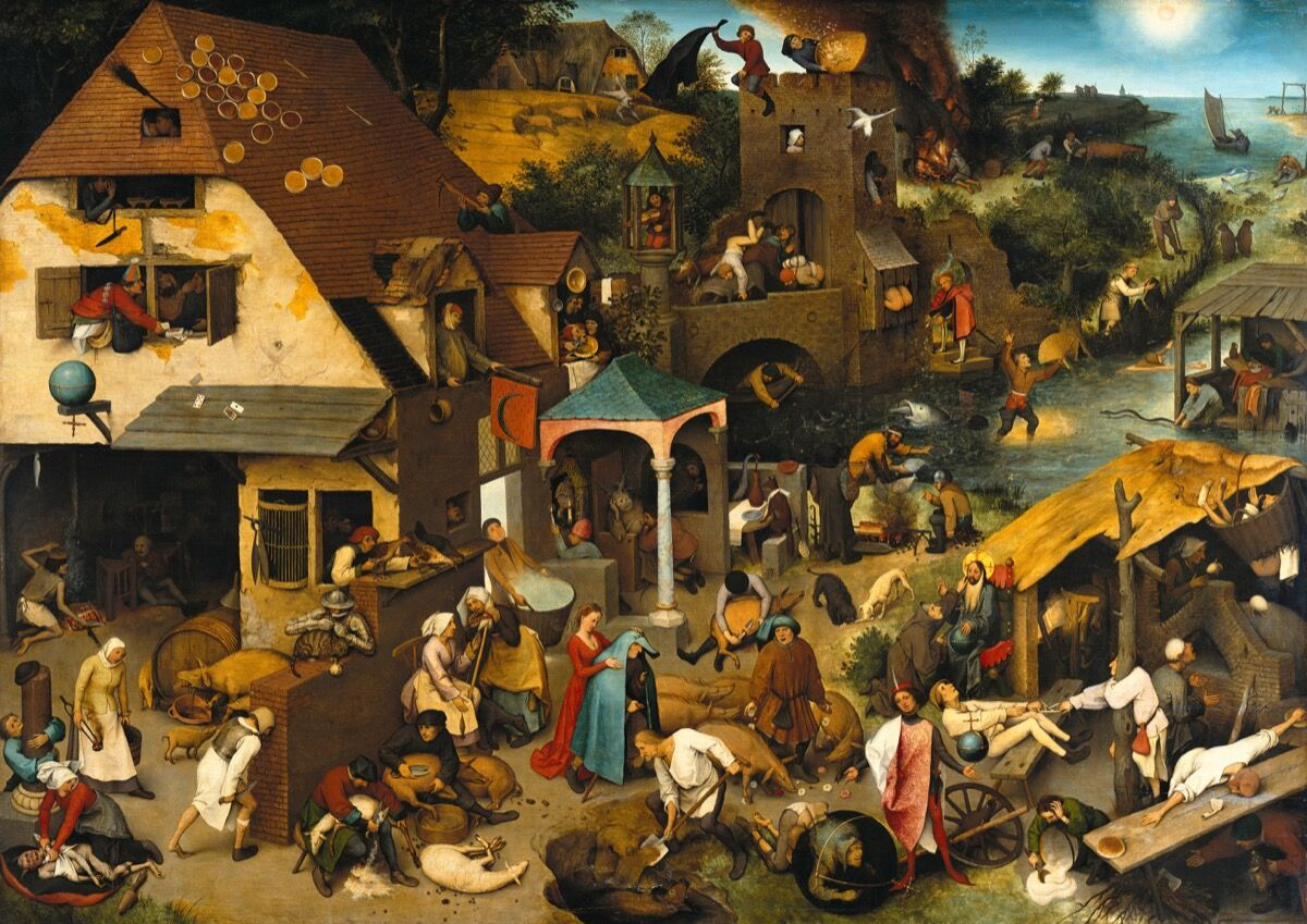 Pieter Bruegel the Elder, The Dutch Proverbs, 1559. Photo via Wikimedia Commons.