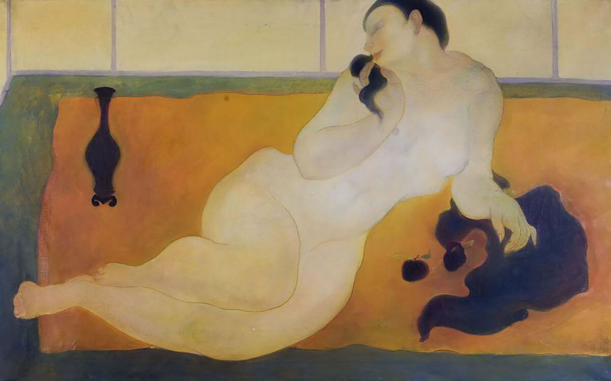 Tyrus Wong, Reclining Nude c. 1936. Courtesy of Tyrus Wong and PBS.