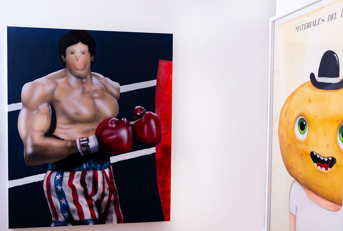 Installation view, from left to right, of works by Evgen Copi Gorisek and Javier Calleja in Jonathan Montalvo's home. Courtesy of Jonathan Montalvo.