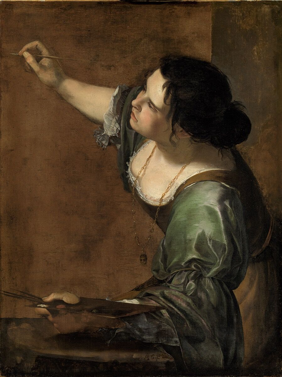Artemisia Gentileschi, Self Portrait as the Allegory of Painting, ca. 1638-39. © Royal Collection Trust / © Her Majesty Queen Elizabeth II 2019. Courtesy of the National Gallery, London.