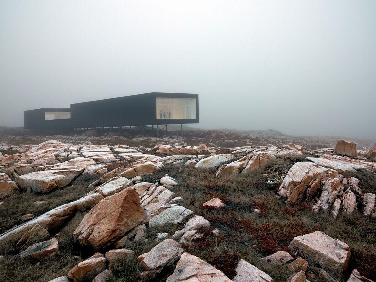 Fogo Island Arts' Long Studio in Joe Batt's Arm, Fogo Island, Newfoundland,Canada, 2011. Photo by Bent René Synnevåg. Courtesy of Fogo Island Arts.