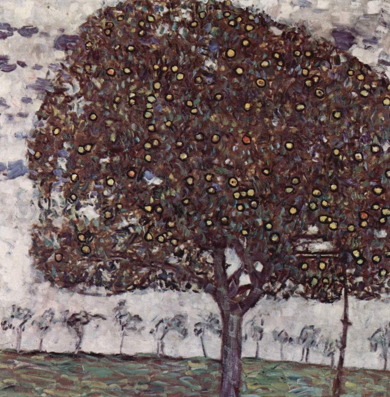Gustav Klimt, Apple Tree II, 1916. Image via Wikimedia Commons.