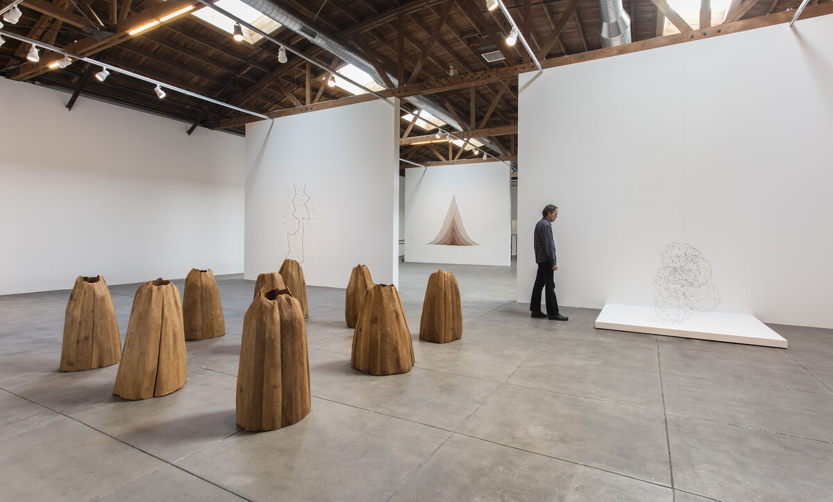 "Installation view of ""Revolution in the Making: Abstract Sculpture by Women, 1947 – 2016"" at Hauser Wirth & Schimmel, 2016. Courtesy of the artists and Hauser & Wirth. Photo: Brian Forrest."