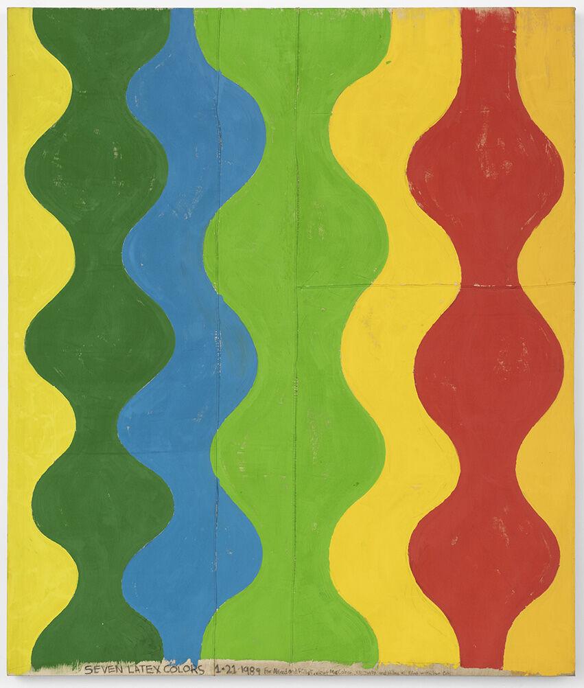 Chris Martin, Seven latex colors, 1989. Photo by Jeff McLane. Courtesy of David Kordansky Gallery, Los Angeles.