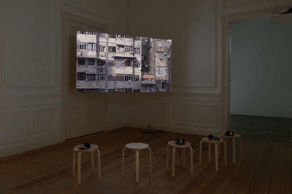 Installation view ofDavid Claerbout, Radio Piece (Hong Kong), 2015,courtesyofGalerie Micheline Szwajcer
