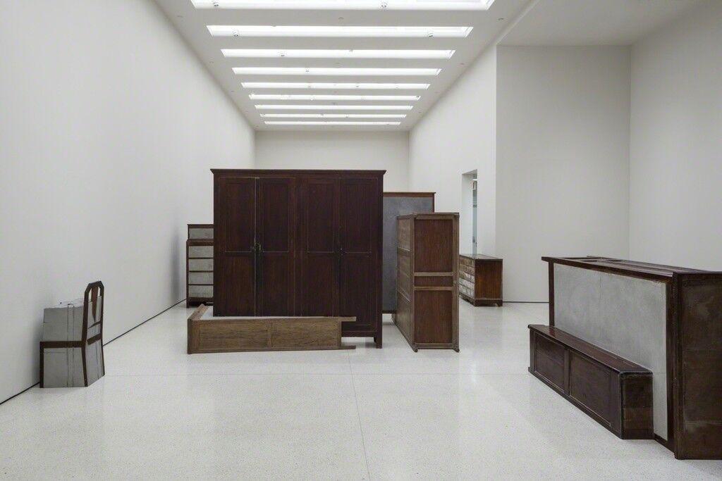 Installation view of Doris Salcedo courtesy of the Guggenheim Museum.