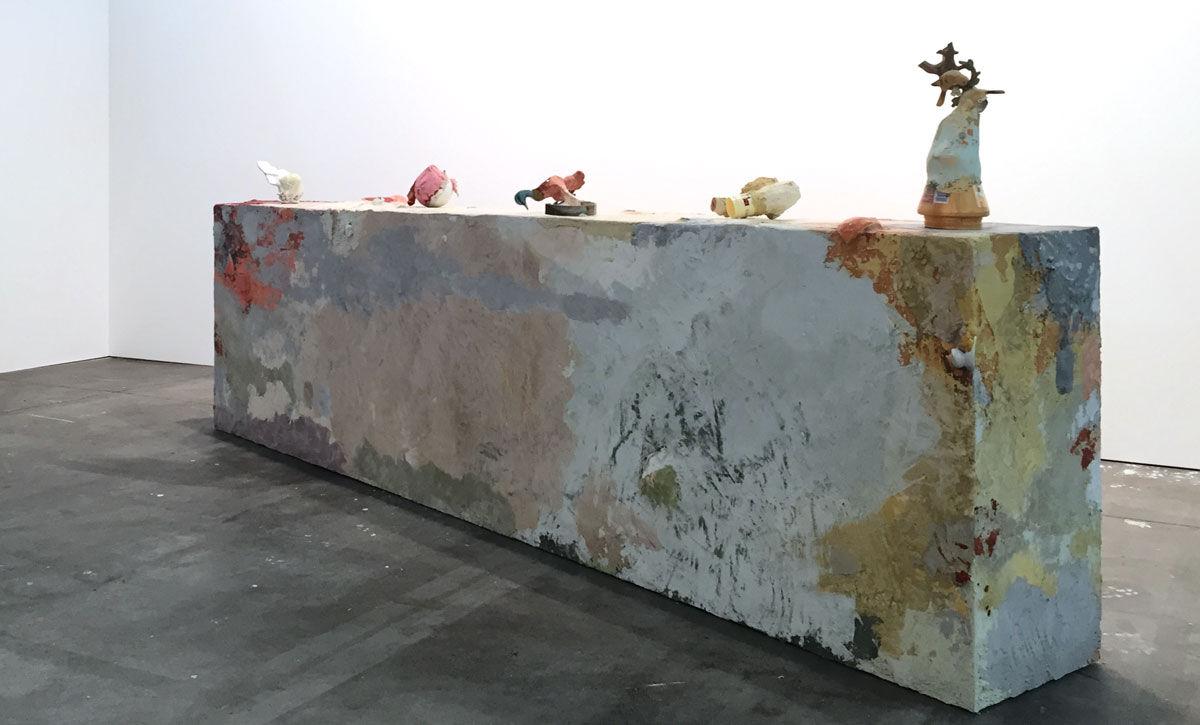 Installation view of Francesca Ferreri,La discesa, la forma, 2016, at Alberto Peola's booth at Artissima, 2016. Photo courtesy of Alberto Peola.