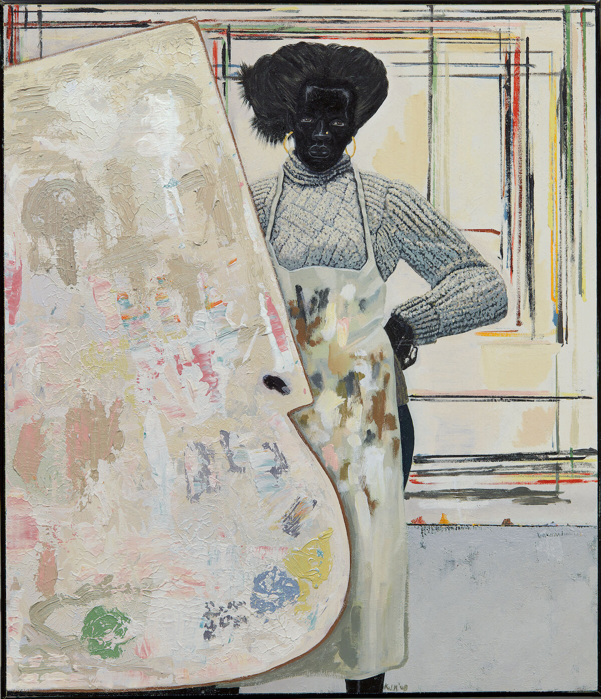 Kerry James Marshall, Untitled (Painter), 2008. Sold for $7,325,800. Courtesy Sotheby's.