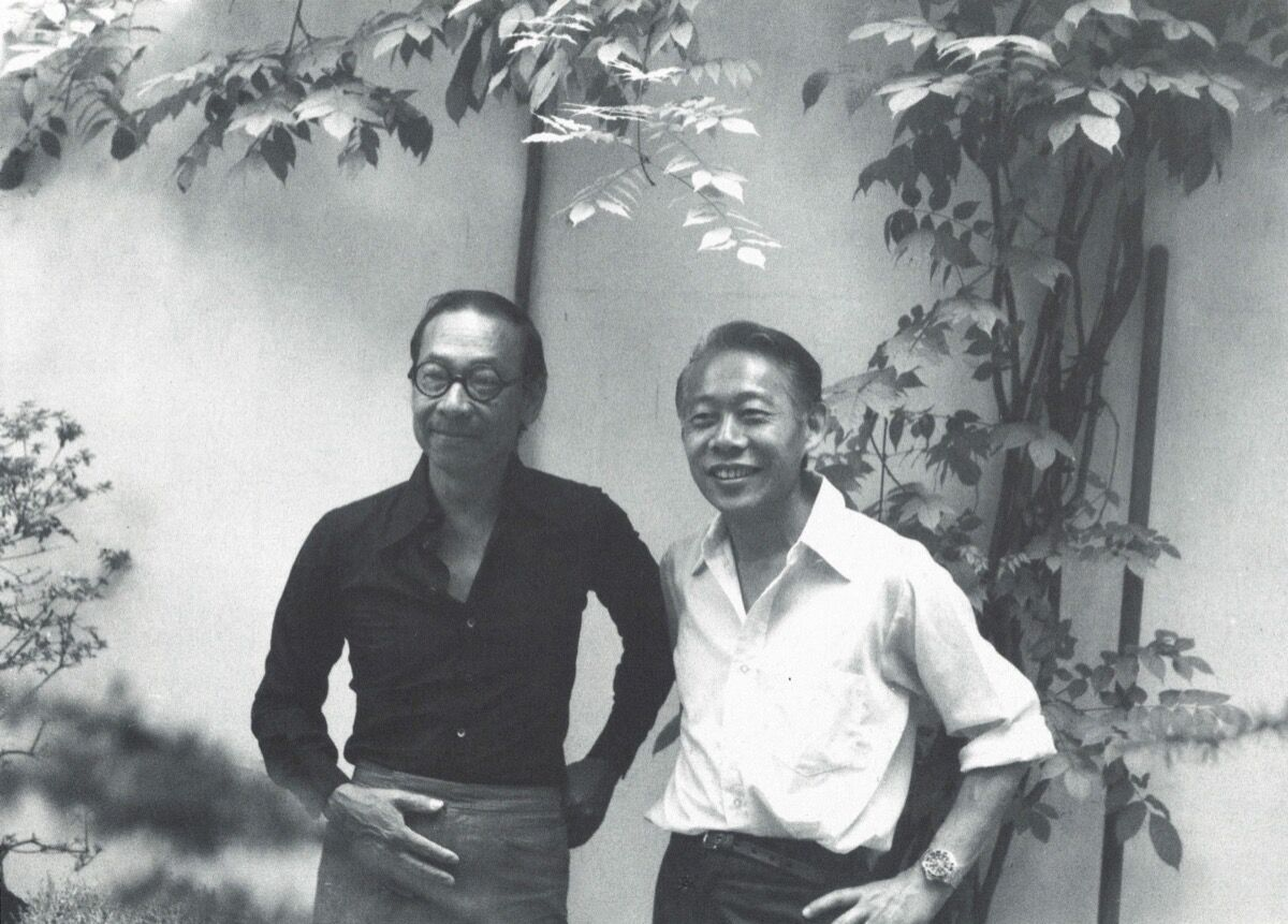 Zao Wou-Ki with I.M. Pei in 1976. Photo by Françoise Marquet© Françoise Marquet. Courtesy of Sotheby's.