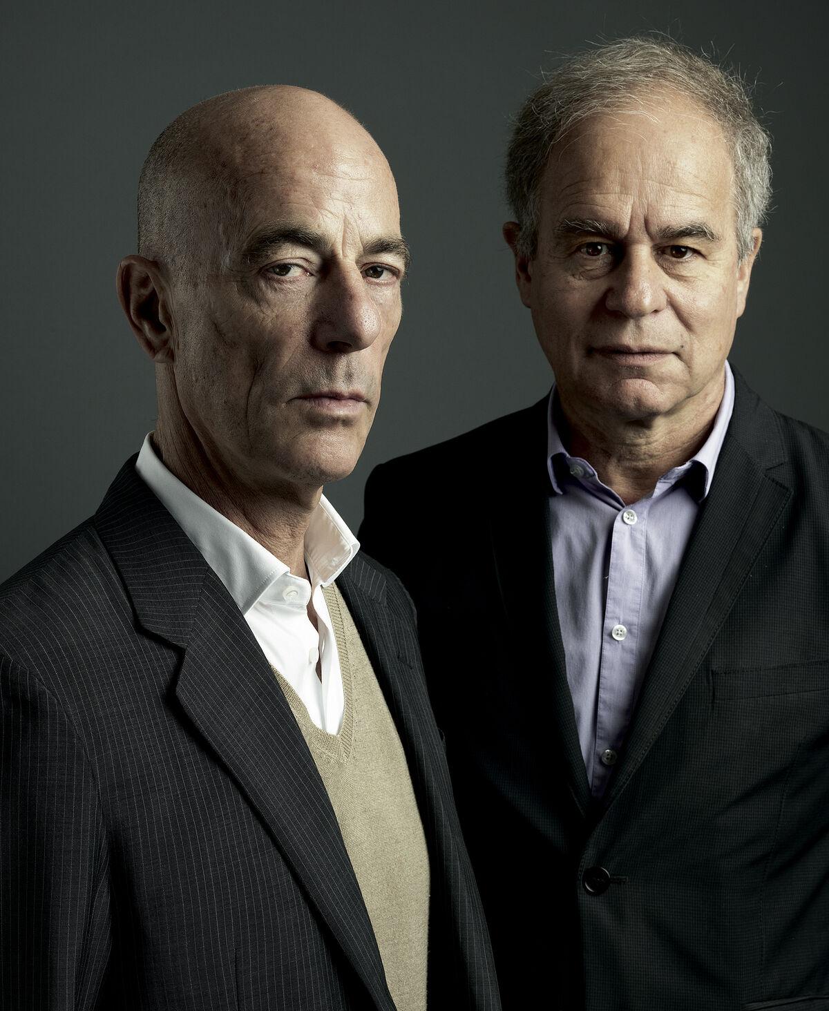 Portrait of Jacques Herzog and Pierre de Meuron. © Marco Grob.