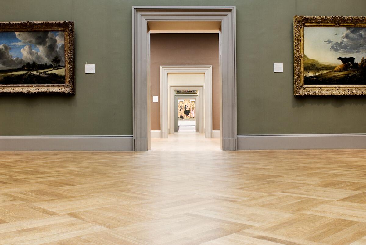 Empty galleries at the Metropolitan Museum of Art in New York. Photo by James Prescott, via Flickr.