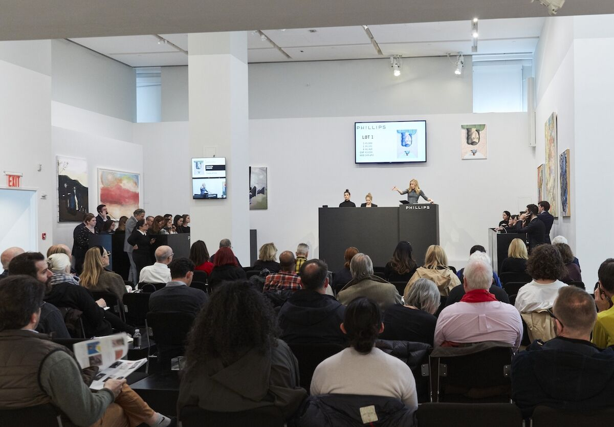 The New Now auction at Phillips on March 4, 2020. Photo courtesy Phillips.