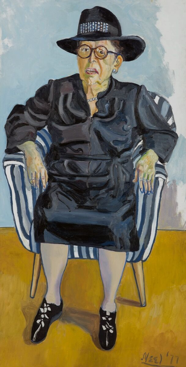 Alice Neel, Lilly Brody, 1977. Courtesy of Sotheby's.