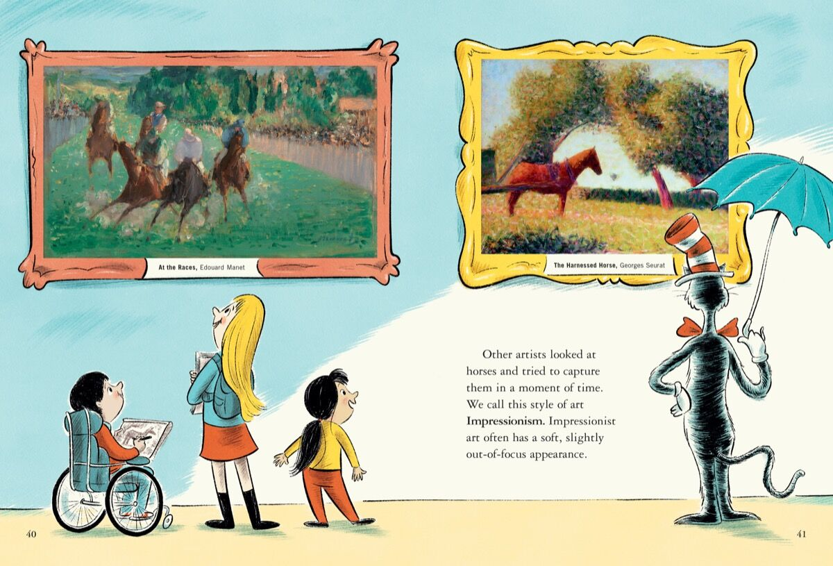 """Dr  Seuss's Last Book, """"Horse Museum,"""" Is about Art History"""