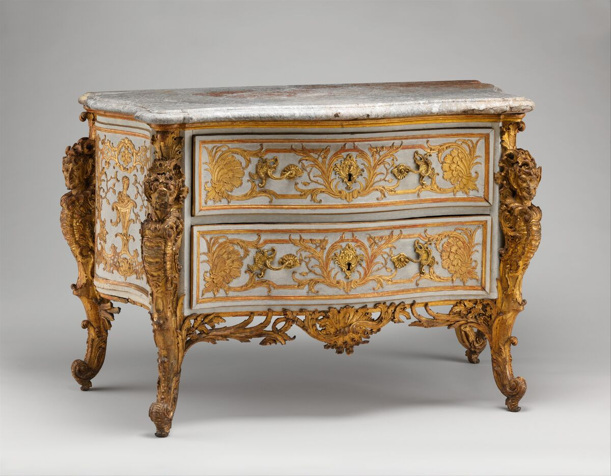 Charles Cressent, Commode, ca. 1735–40. Courtesy of the Metropolitan Museum of Art.