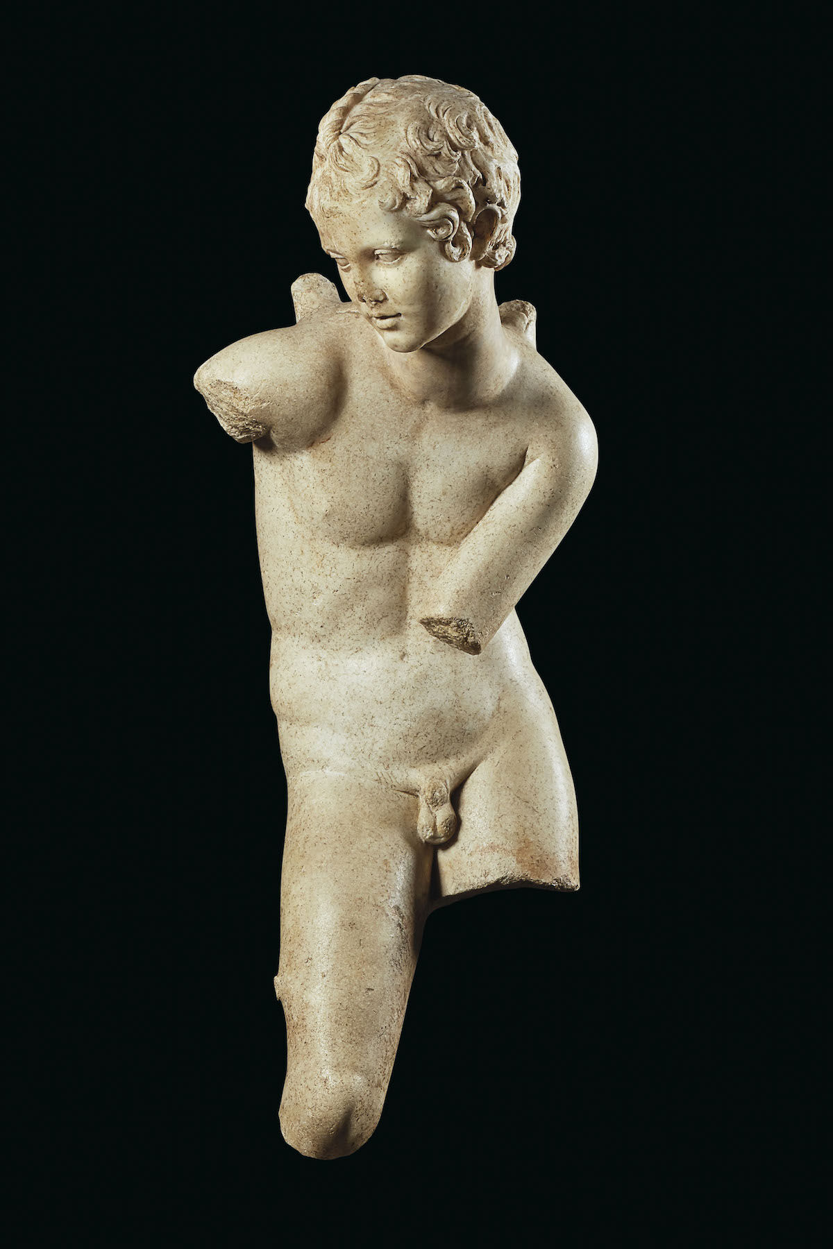A Roman sculpture headed to auction at Christie's allegedly