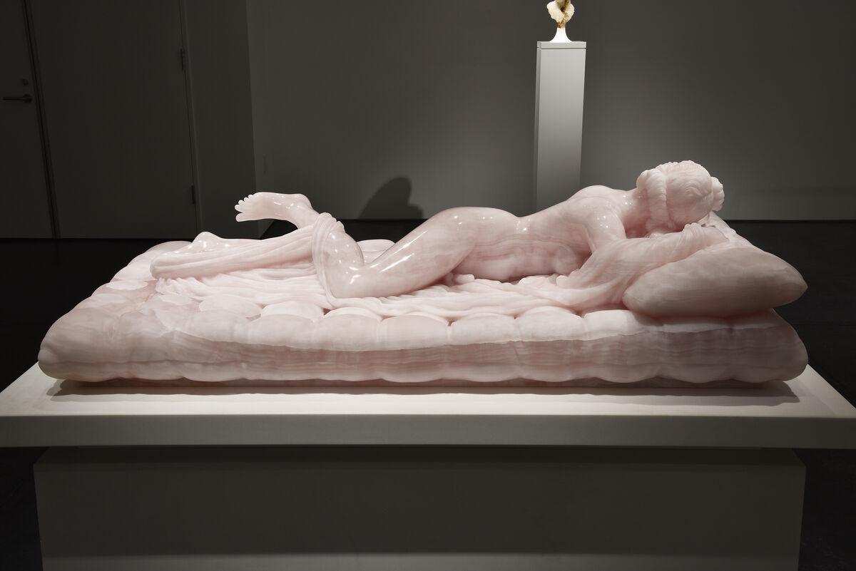 Barry X Ball, Sleeping Hermaphrodite, 2008–17. Courtesy of Fergus McCaffrey, New York, Tokyo, and St. Barth.