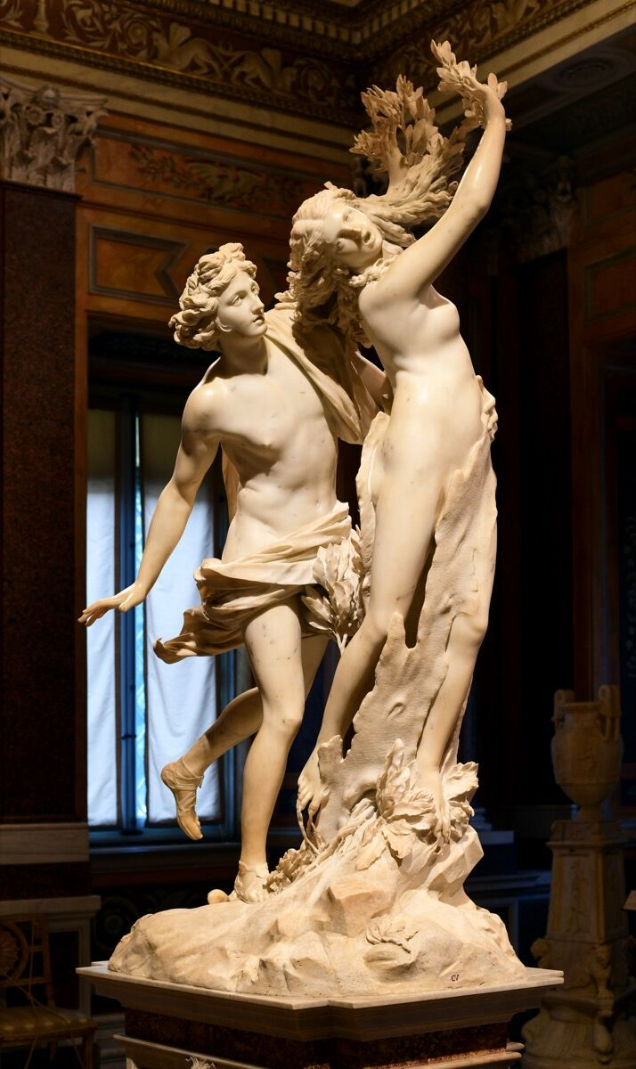 Gian Lorenzo Bernini, Apollo and Daphe, 1622–25. Image via Wikimedia Commons.