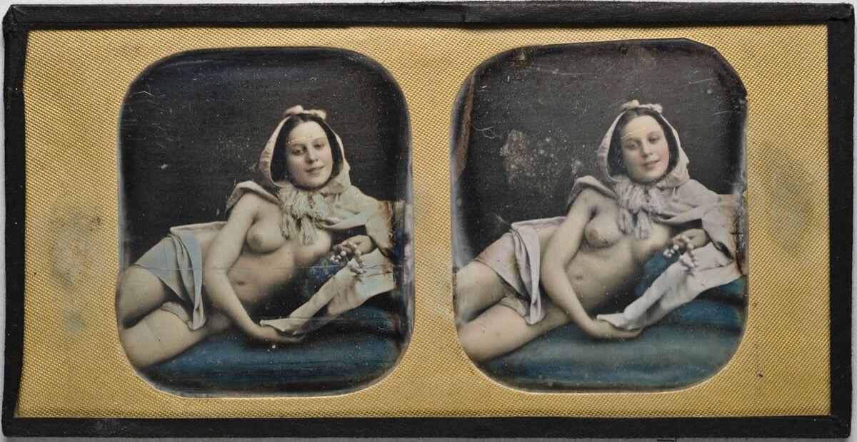 Johann Wilhem Bergstrom, hand-colored daguerreotype, ca. 1844–54. Image via Wikimedia Commons.