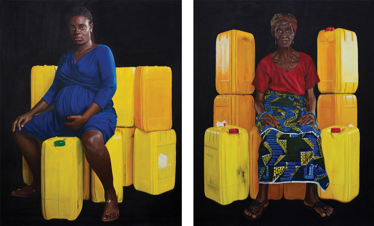 Jeremiah Quarshie,Yellow is the Colour of Waterseries, 2015-2016. Images courtesy of the artist and Gallery 1957, Accra.