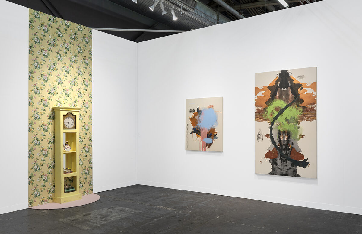 Installation view of Susanne Vielmetter Los Angeles Projects' booth at The Armory Show, New York, 2019. Photo by Dawn Blackman. Courtesy of Susanne Vielmetter Los Angeles Projects.