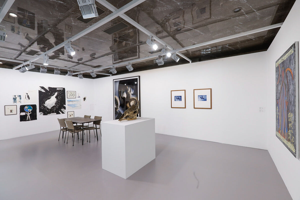 Installation view of the David Zwirner booth at JINGART, Beijing, 2018. Courtesy of  JINGART.