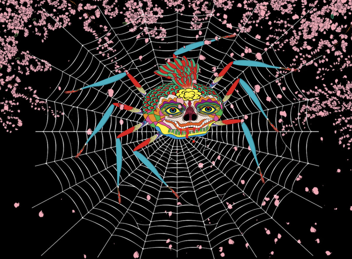 Keiichi Tanaami, The Laughing Spider, 2016. This digital animation will be featured in Nanzuka's Art Basel online viewing room. © Keiichi Tanaami. Courtesy Nanzuka.