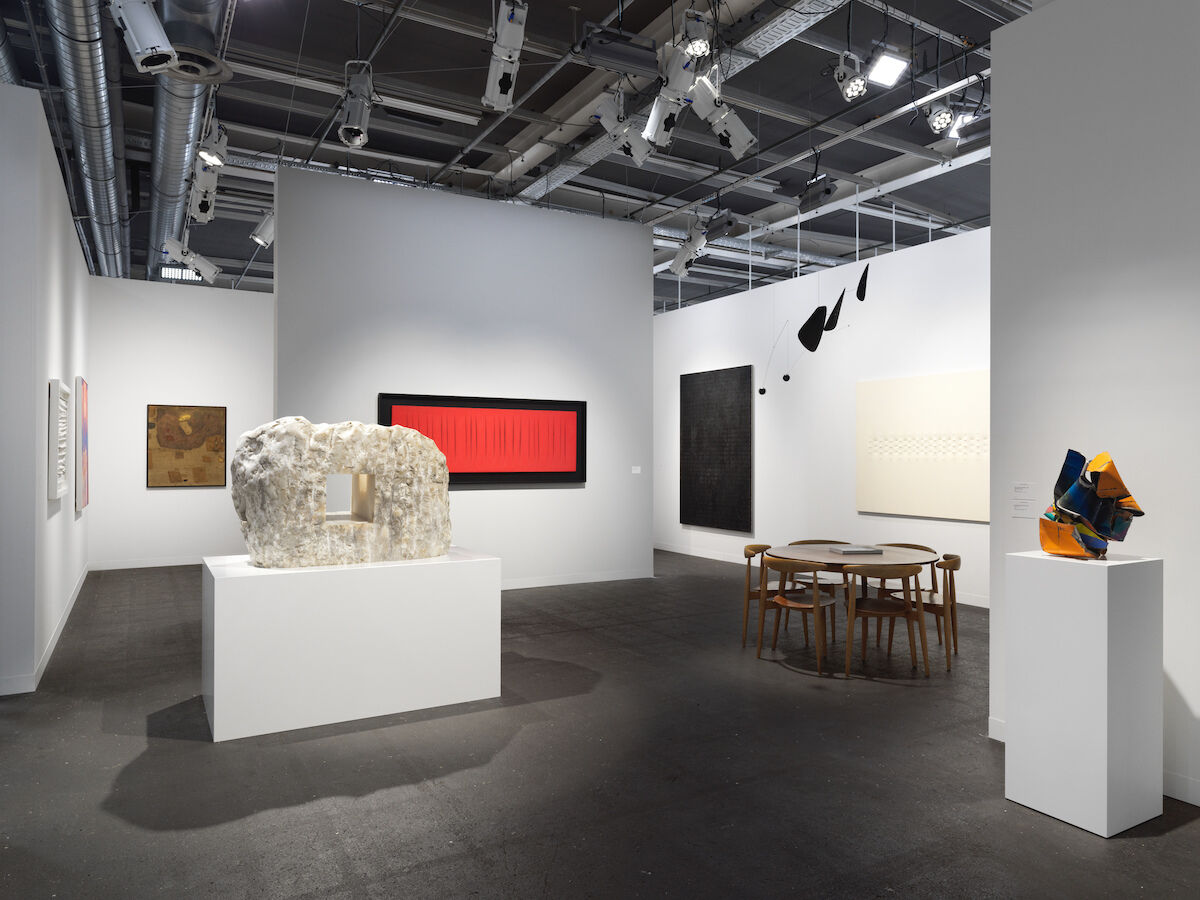 Installation view of Hauser & Wirth's  booth at Art Basel, 2019. Courtesy of Hauser & Wirth Photo by Stefan Altenburger, Photography Zürich.