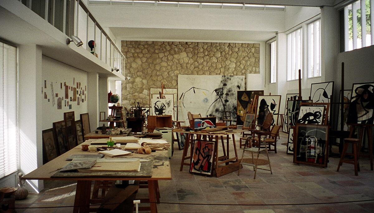 Joan Miró's studio. Photo by Alexandra Moss, via Flickr.