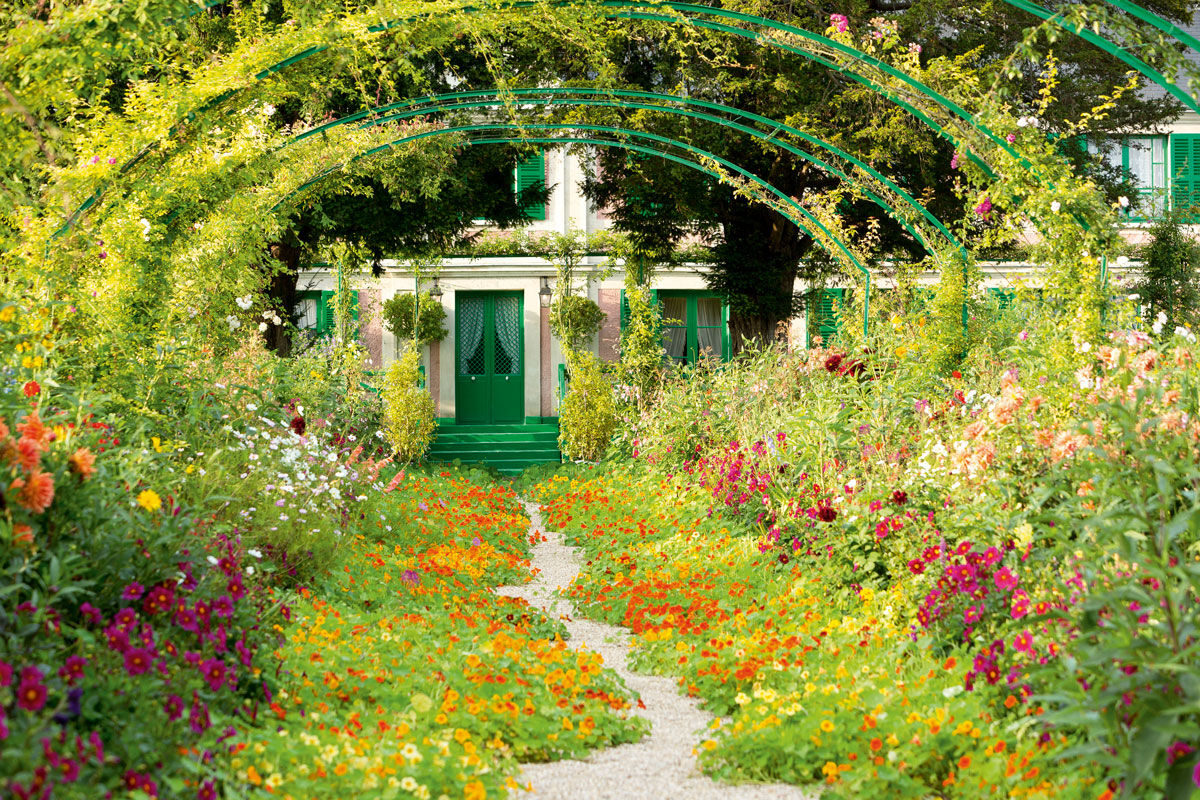 View of Monet's former home and the Clos Normand, Giverny, France. Photo © Eric Sander.