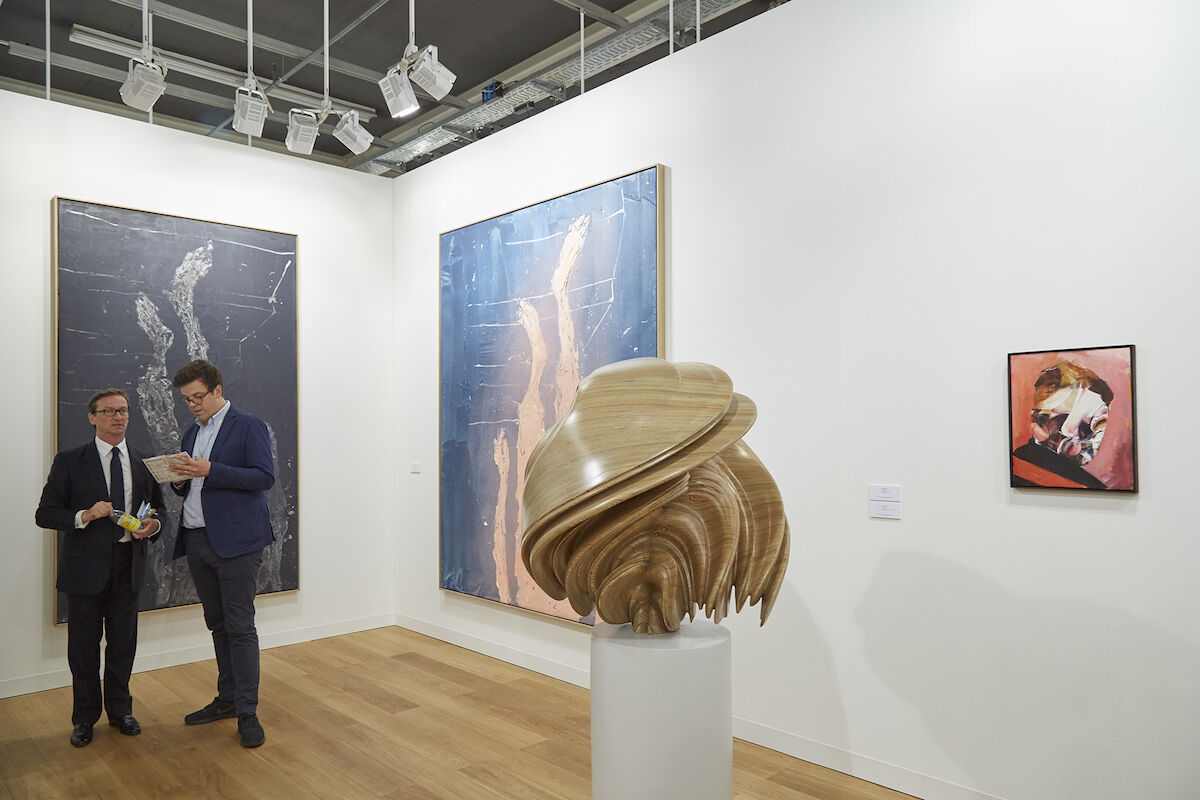 Installation view of Galerie Thaddaeus Ropac's booth at Art Basel, 2017. Photo by Benjamin Westoby for Artsy.