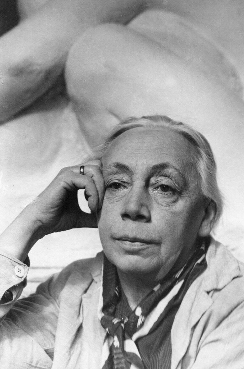 Portrait of Käthe Kollwitz by Tita Binz, 1930. Via Getty Images.