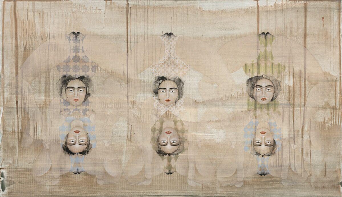 Hayv Kahraman, 6 Bends, 2020. © Hayv Kahraman. Photo by Fredrik Nilsen Studio. Courtesy of the artist; Pilar Corrias, London; and Pérez Art Museum Miami.