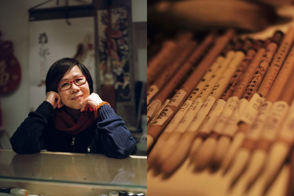 """Kenneth Lam, Wendy Choi, Sales Assistant, Guanghwa Bookshop, from """"Humans of Chinatown London,"""" 2020. Courtesy of the artist."""