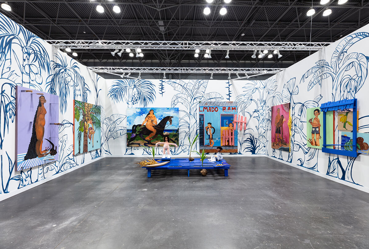 Bony Ramirez, installation view in Thierry Goldberg Gallery's booth at The Armory Show, 2021. Courtesy of the artist and Thierry Goldberg Gallery.