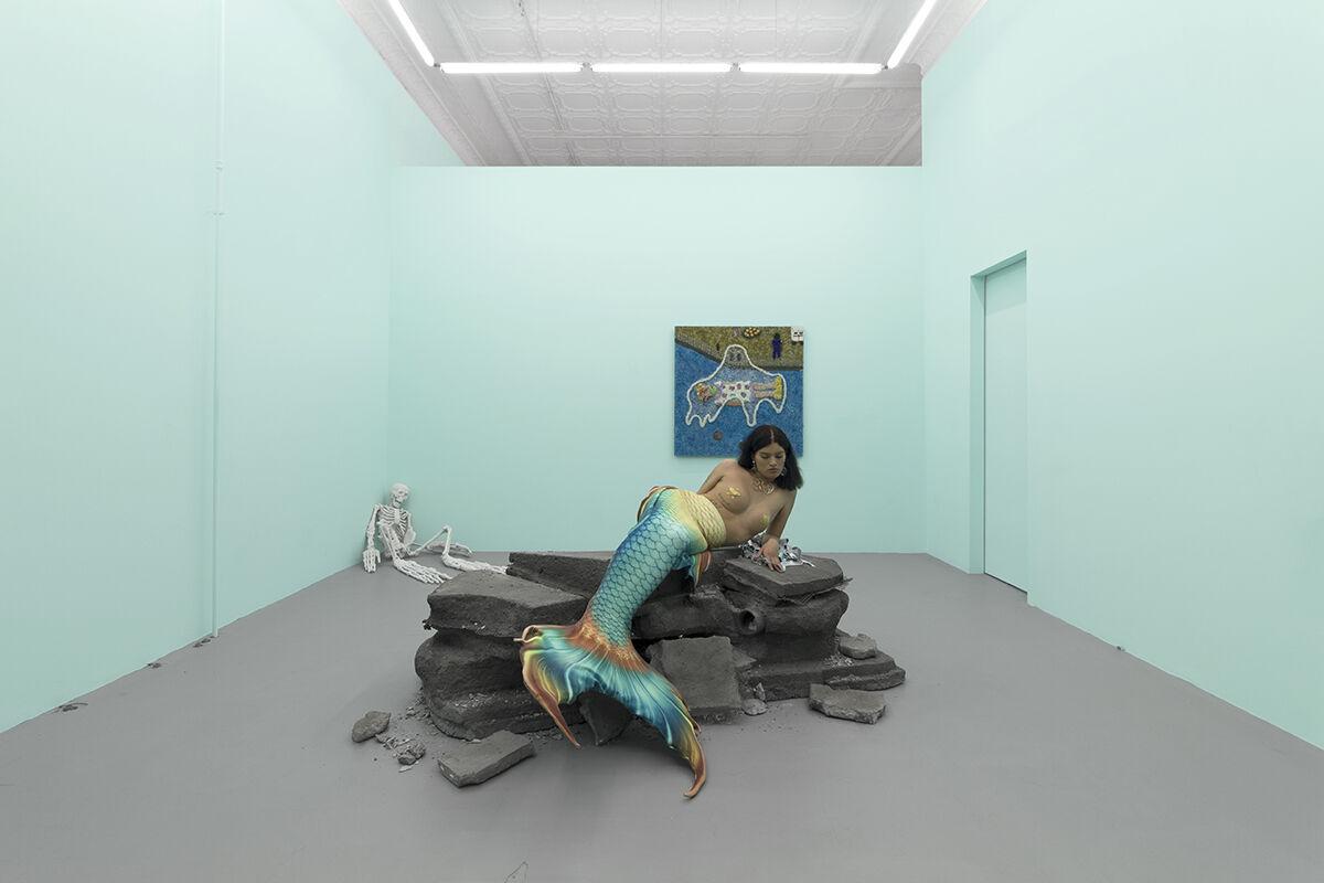 "Nereida Patricia, installation view of ""Death Fantasy,"" 2019. Courtesy of the artist and Prairie."