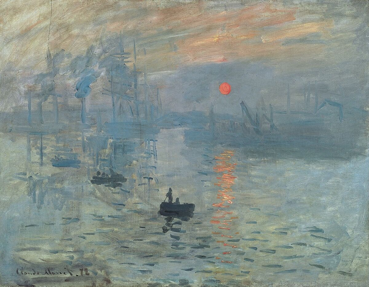 Claude Monet, Impression, Sunrise, 1872. Photo via Wikimedia Commons.