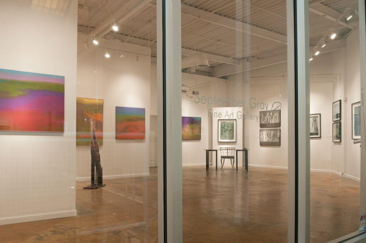 Exterior view of September Gray Fine Art Gallery.  Courtesy of September Gray Fine Art Gallery.
