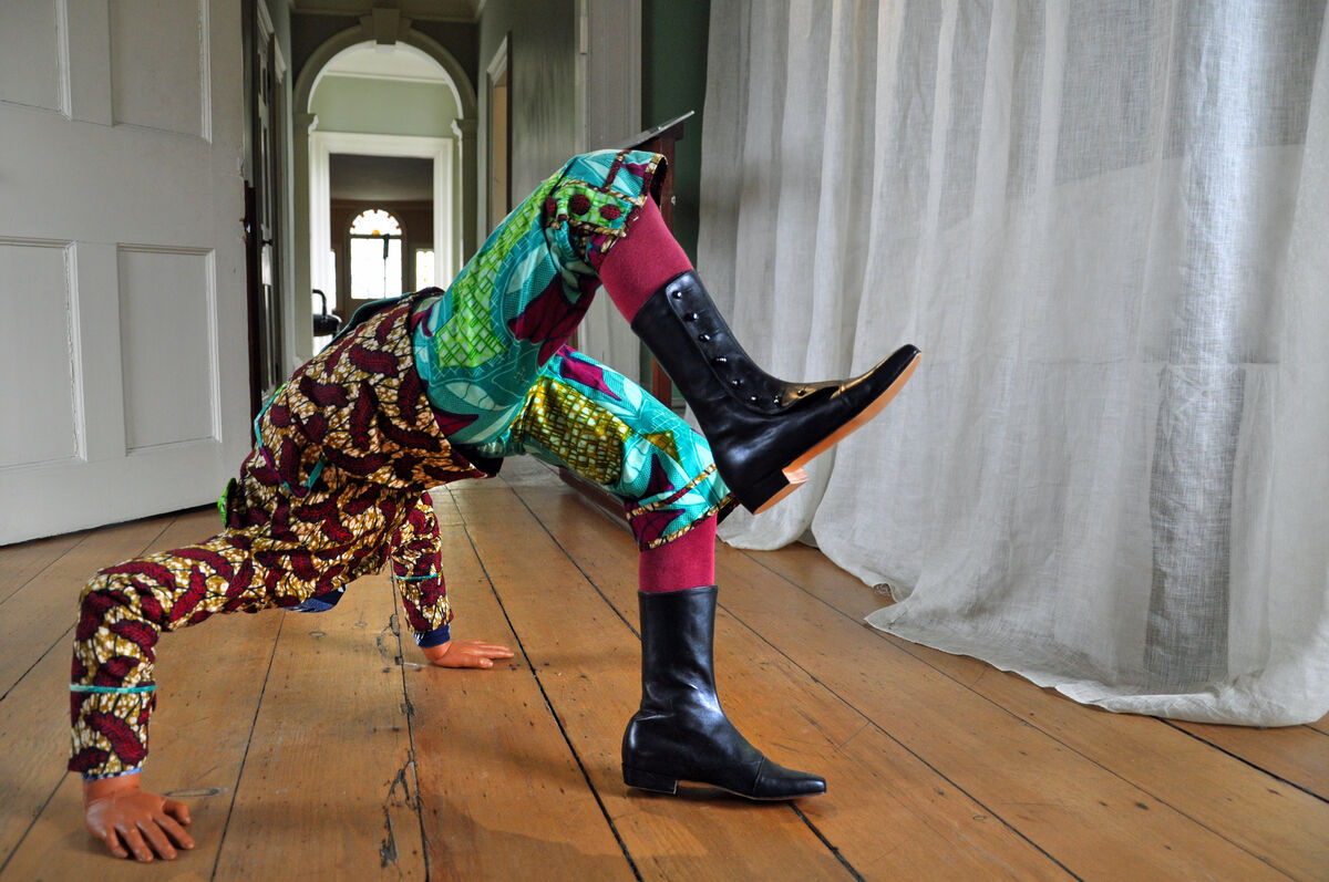 Yinka Shonibare MBE, Boy Doing Headstand, 2009 (installation image). Collection of Jane and Leonard Korman © Yinka Shonibare MBE/Courtesy James Cohan Gallery, New York/Shanghai. Photo: Trish Mayo.
