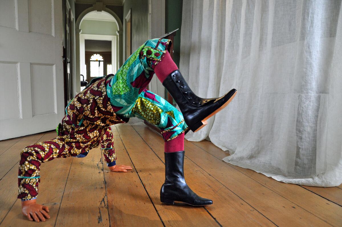 Yinka Shonibare MBE,Boy Doing Headstand, 2009 (installation image). Collection of Jane and Leonard Korman©Yinka Shonibare MBE/Courtesy James Cohan Gallery, New York/Shanghai. Photo: Trish Mayo.